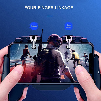 Mobile Game Controller Joystick Metal L1 R1 Trigger With Cooling Fan