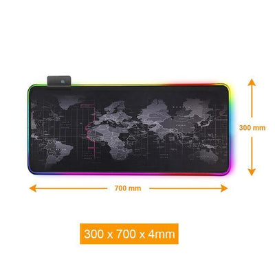 RGB World Map Computer Mousepad - Above_Savvy