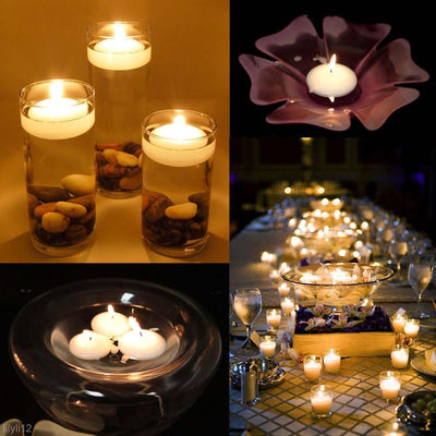 10 Piece Romantic Glass Floating Candles