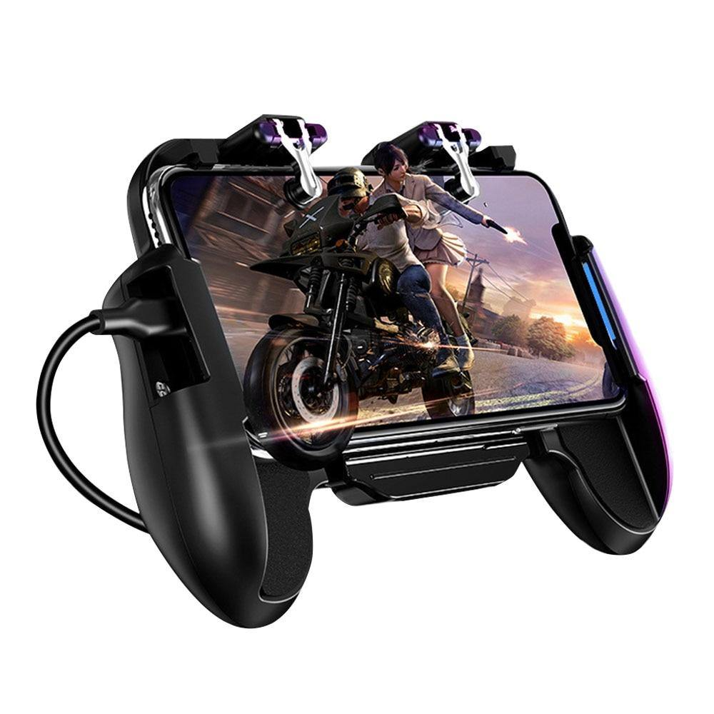 Mobile Game Controller Joystick Metal L1 R1 Trigger With Cooling Fan - Above_Savvy