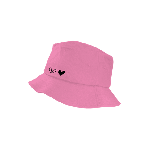 Black Hearts Pink Bucket Hat