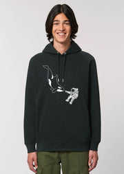 Orca Astronaut Side Pocket Hoodie - All Everything Dolphin