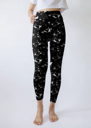 Black And White Orca Yoga Leggings - All Everything Dolphin