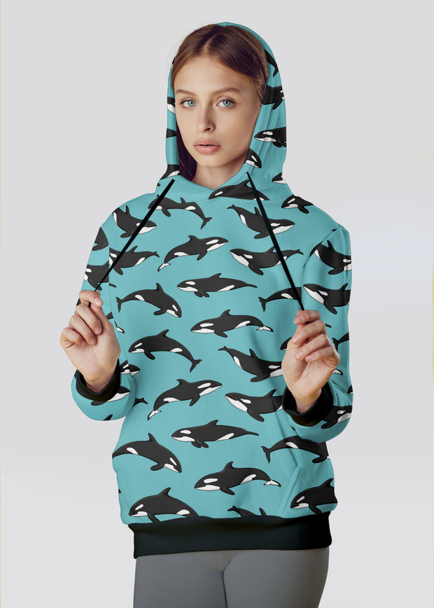 Blue Orca Hoodie - All Everything Dolphin