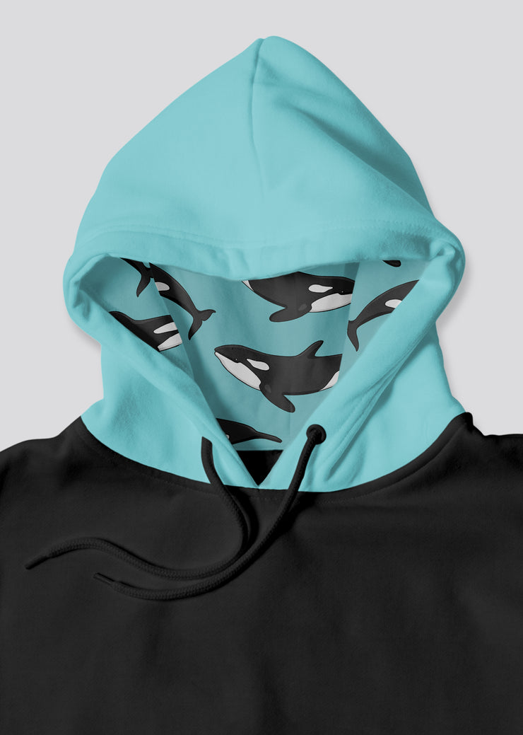 Blue Orca Pocket Hoodie - All Everything Dolphin