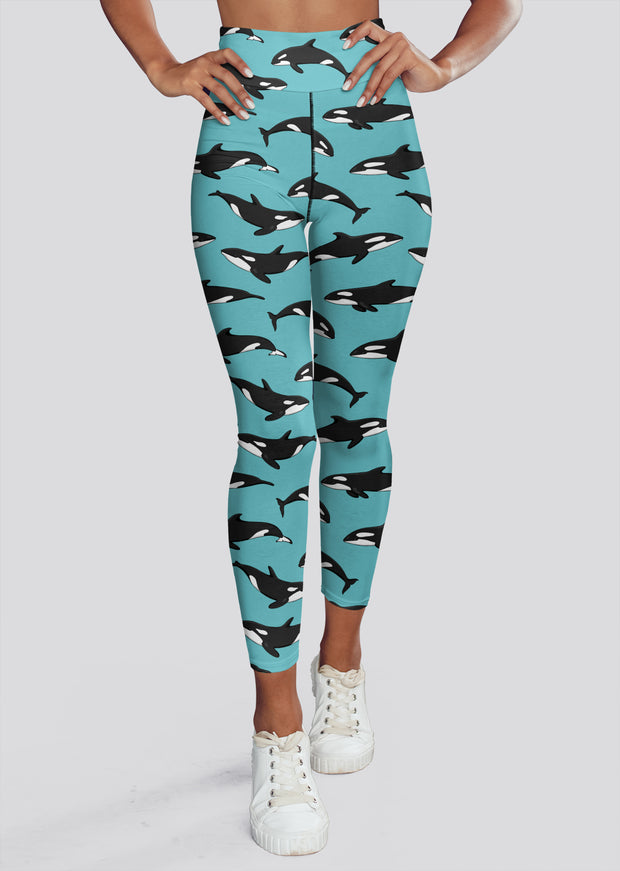 Blue Orca Yoga Leggings - All Everything Dolphin