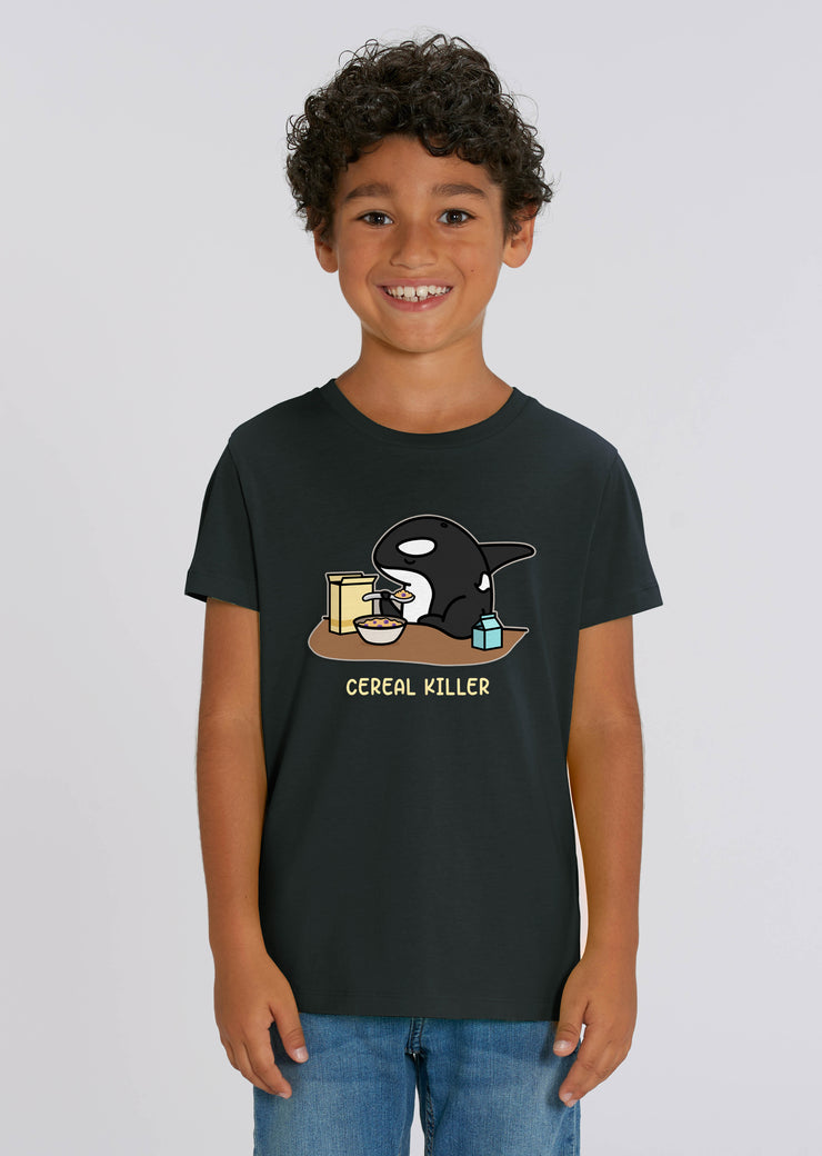 Cereal Killer Kids T-Shirt Black - All Everything Dolphin
