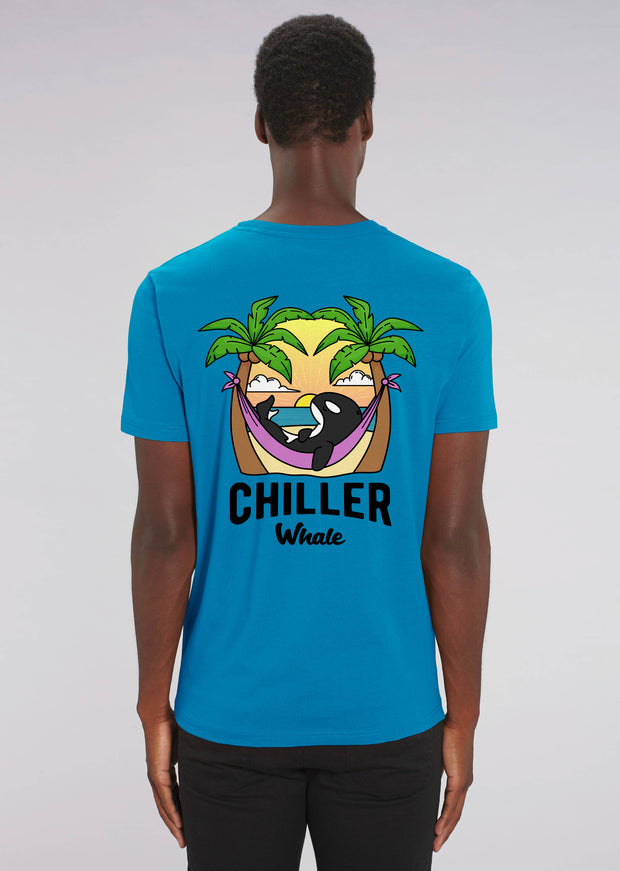 Chiller Whale Palm Trees T-Shirt - All Everything Dolphin