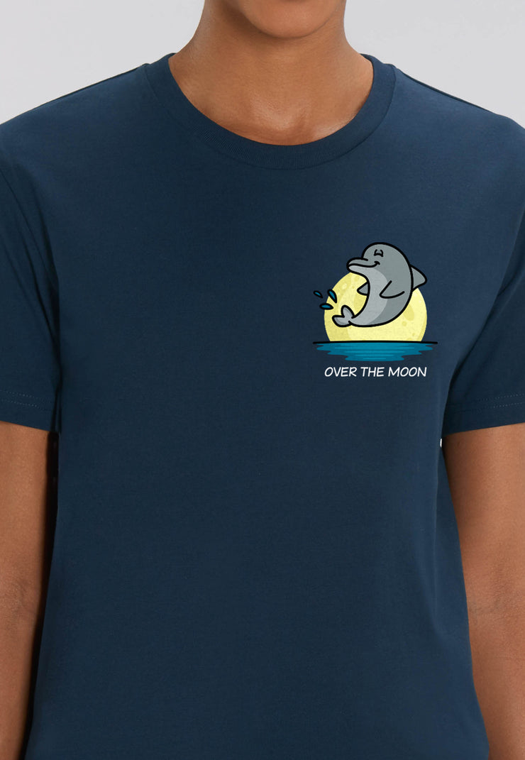 Over The Moon Dolphin T-Shirt - All Everything Dolphin