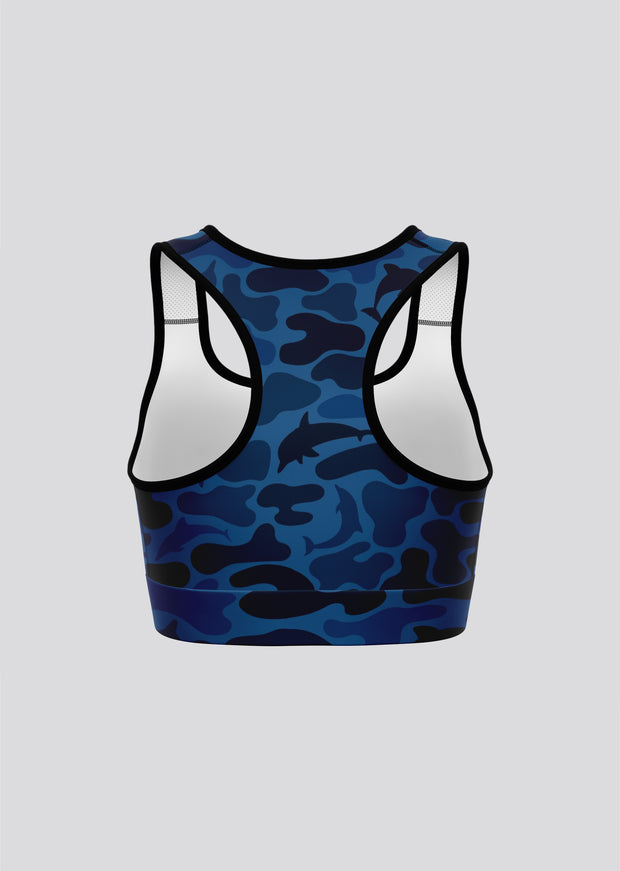 Dark Camo Sports Bra - All Everything Dolphin