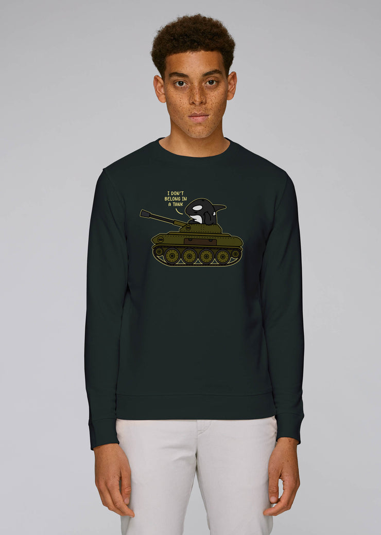 I Don't Belong In A Tank Orca Sweatshirt - All Everything Dolphin