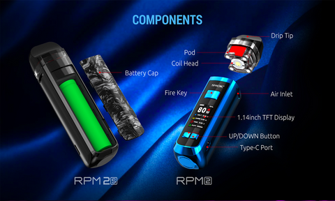 Smok RPM 2 Pod Mod Kit 80W Specification