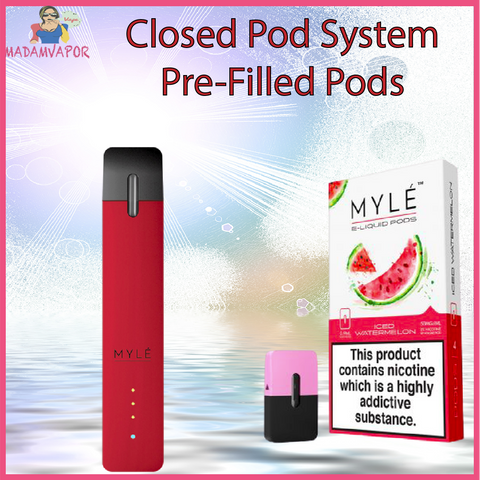 WHAT IS CLOSED POD SYSTEM PRE FILLED POD ABU DHABI UAE VAPE VAPING PRODUCTS