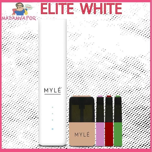 V.4 Myle Elite White Starter Kit UAE Abu Dhabi Madamvapor