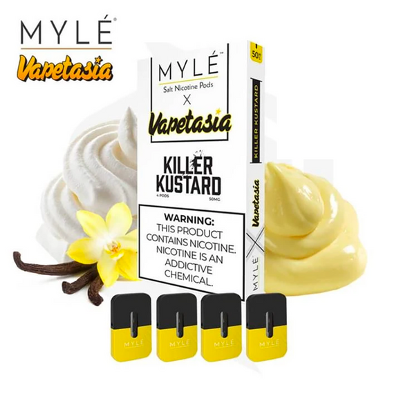 [Authentic] Myle Pods Vapetasia Killer Kustard