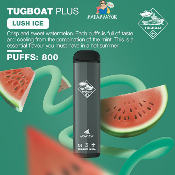 TUGBOAT PLUS -LUSH ICE VAPE VAPING UAE DUBAI ABU DHABI DELIVERY EMIRATES SHOP STOR ONLINE QUALITY CHEAP VAPE DISPOSABLE  FAST DELIVERY