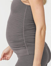Load image into Gallery viewer, Heather ribbed maternity tank