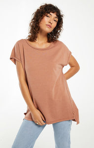 Frankie Terry Tunic Tee-Rust