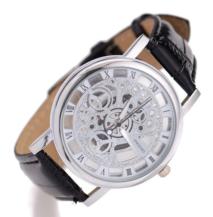 Open Faced Skeleton Quartz Movement