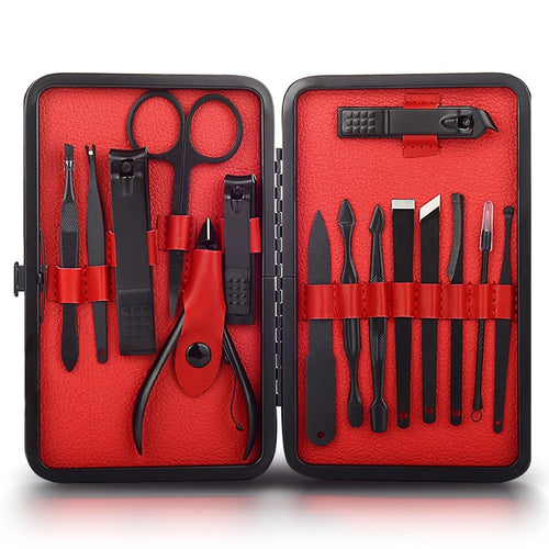 Black Stainless Steel 15 Piece Grooming Set