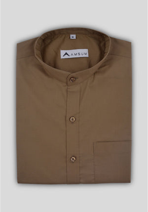 Classic Biege Shirt (Comfortable Slim Fit)