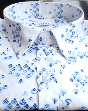 Breeze White Shirt (Comfortable Slim Fit)