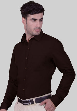Woodland Brown Shirt (Comfortable Slim Fit)