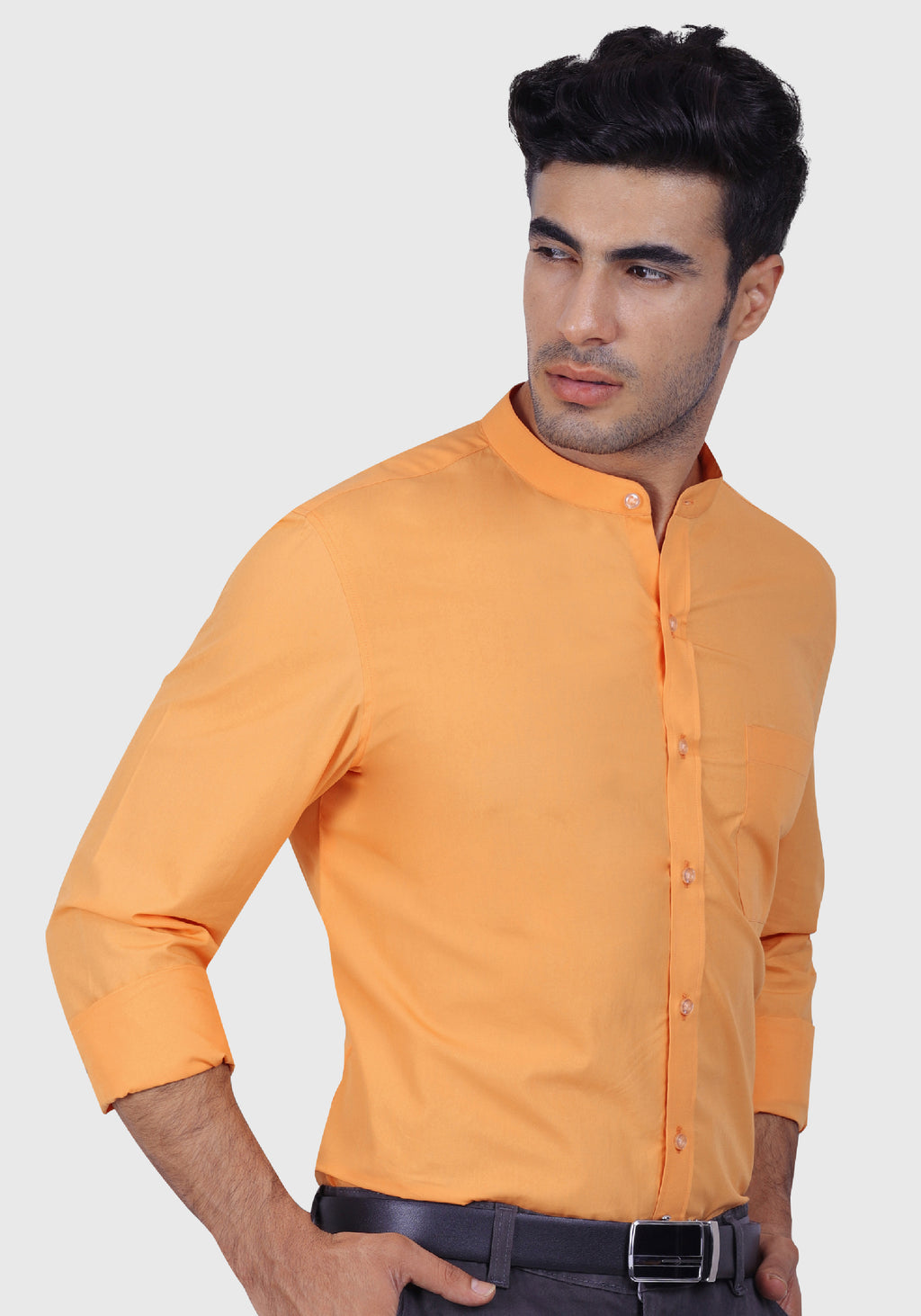 Stirring Orange Shirt (Comfortable Slim Fit)