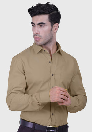 Sand Castle Biege Shirt (Comfortable Slim Fit)