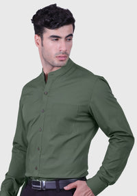 Elegant Green Shirt (Comfortable Slim Fit)