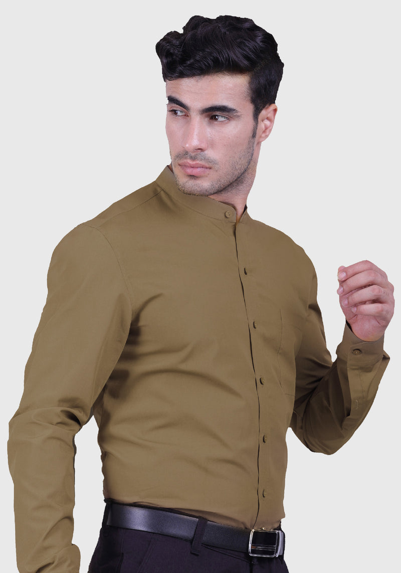 Khaki Delight Shirt (Comfortable Slim Fit)