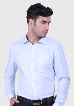 Light Sky Blue Shirt (Comfortable Slim Fit)