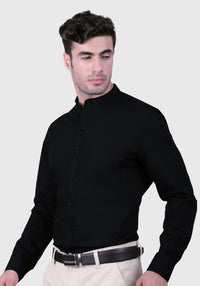 Striking Black Shirt (Comfortable Slim Fit)