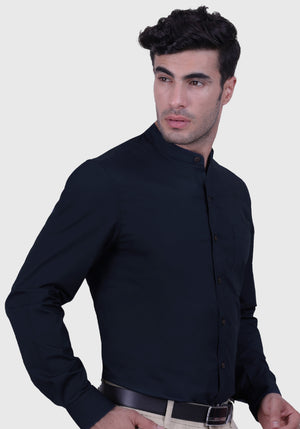 Midnight Blue Shirt (Comfortable Slim Fit)