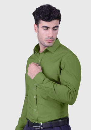 Dollar Bill Green Shirt (Comfortable Slim Fit)