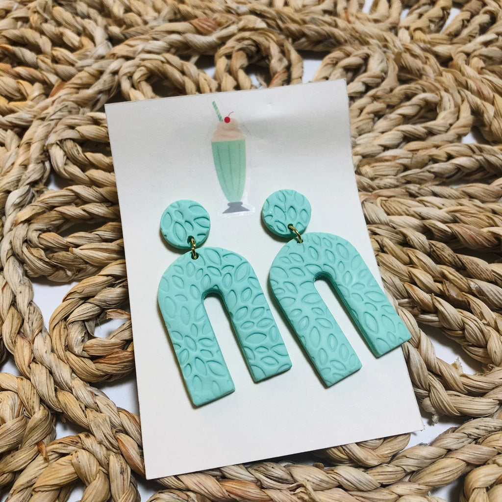 Handmade Clay Statement Earrings
