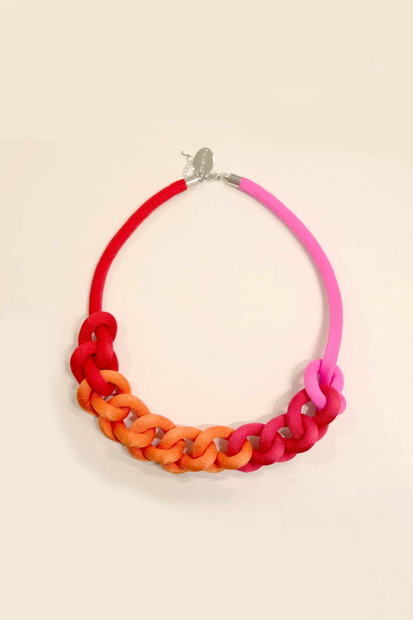 Collar Cadena Degradé Rojo Fucsia