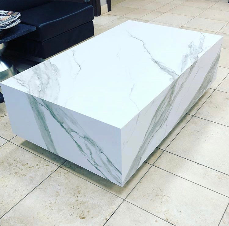 Floating Carrara Marble Coffee Table