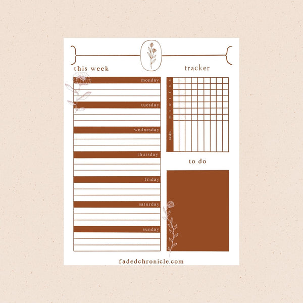 Happy 2020 + January Freebie: weekly printable