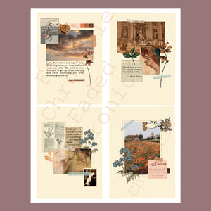 Faded Memories Illustration Card Set
