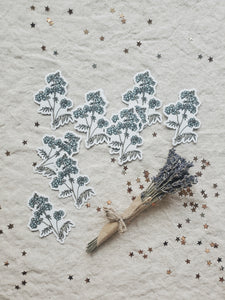 Berry tree die cut sticker