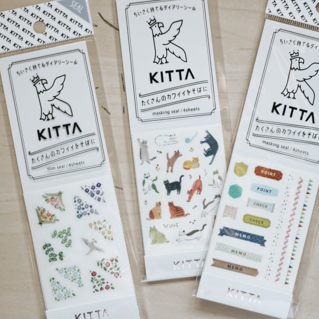 KITTA seal stickers by KING JIM