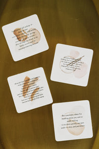 Mary Oliver quote card sticker set