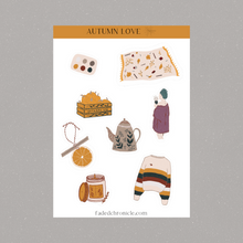 Load image into Gallery viewer, Autumn love sticker sheet