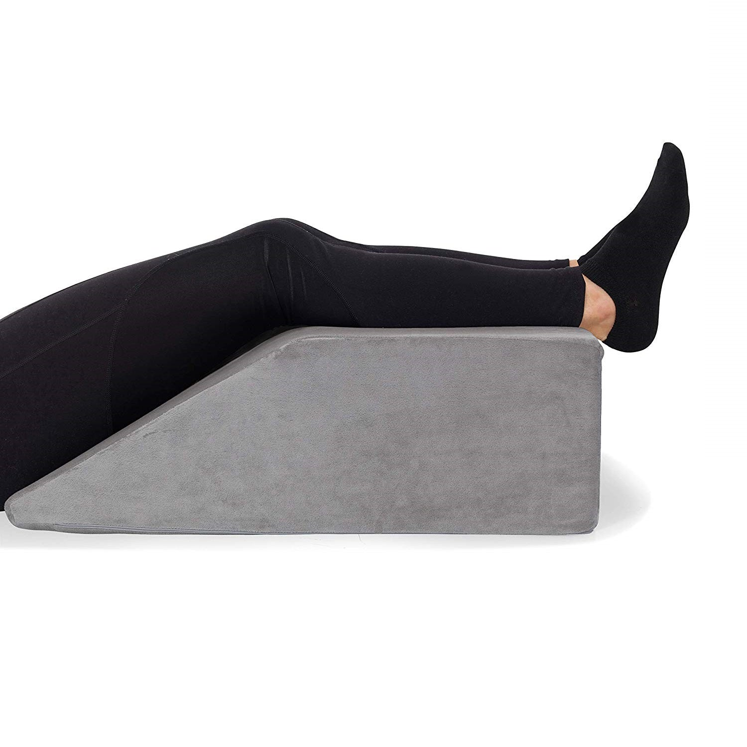 Leg Elevation Wedge Pillow, High-Density Memory Foam Leg Rest, Relieve Ankle, Leg, Hip & Knee Pain