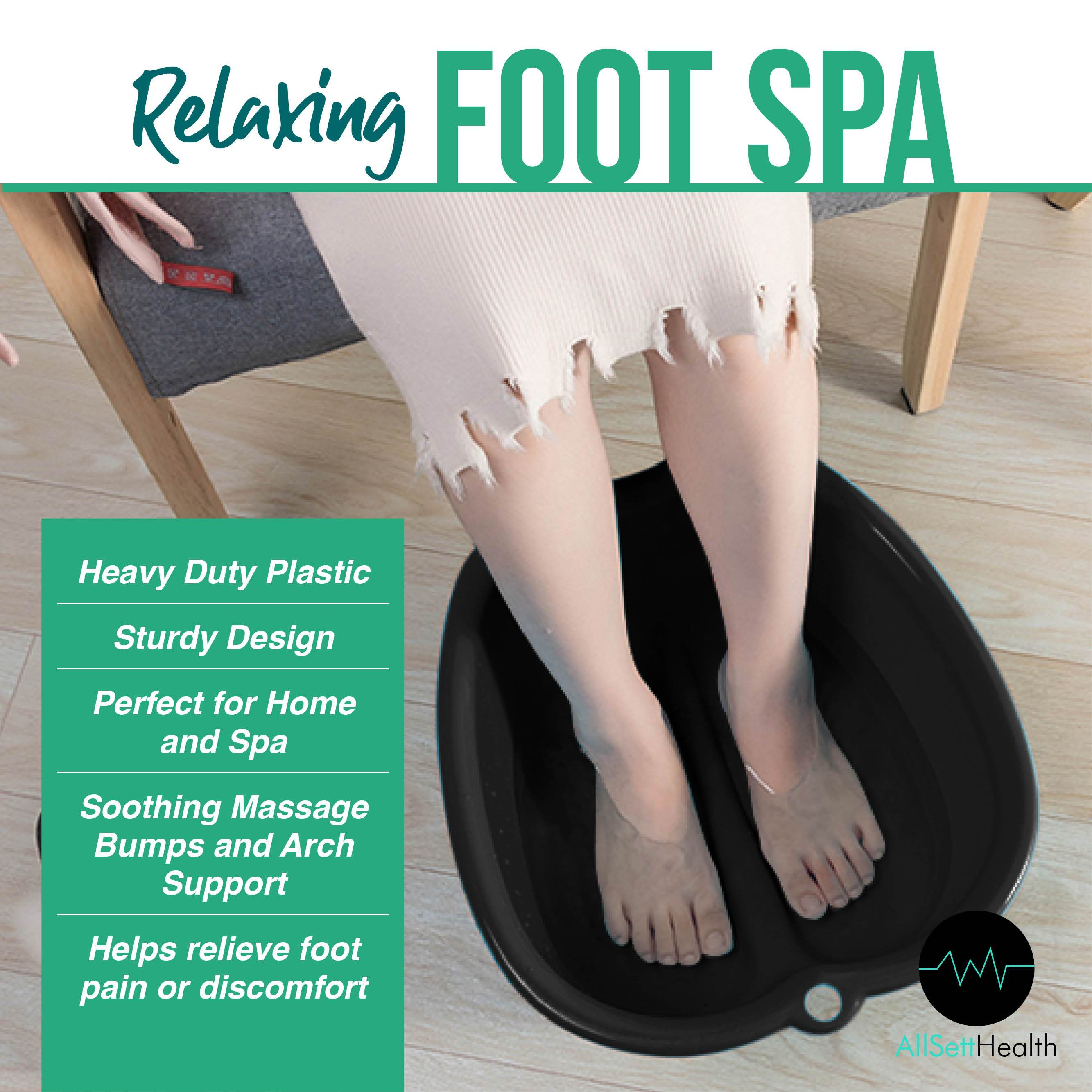 Foot Soaking Home Spa Pedicure Massage Tub for Callus, Fungus, & Dead Skin Remover