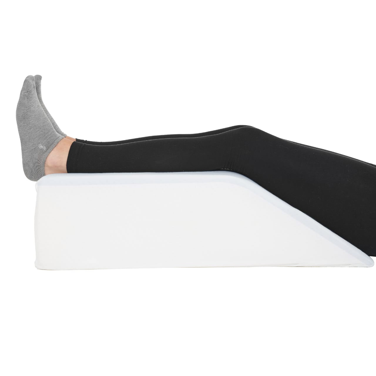 Leg Elevation Pillow - Full Cooling Gel Memory Foam Top, High-Density Leg Rest Elevating Foam Wedge- Relieves and Recovers Foot and Ankle Injury, Leg, Hip and Knee Pain, Improves Blood Circulation