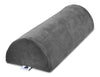 "AllSett Health XXL Half Moon Bolster Pillow for Legs, Back and Head | Semi Roll for Ankle and Foot Comfort with Decorative Grey Cotton Machine Washable Cover | 20.5"" x 8"" x 4.5"""