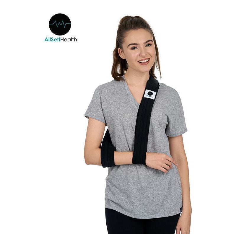 Arm Sling Shoulder Immobilizer for Broken Arms - Easy One Handed Adjustable Arm Support Strap