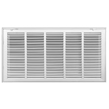 Load image into Gallery viewer, Return Air Filter Grille | Removable Face Door HVAC Duct Cover Grill for 1-inch Filter, Steel, White